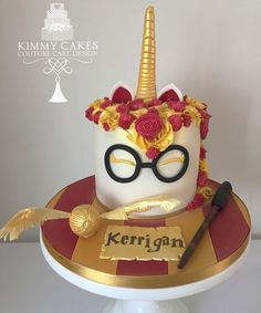 Harry Potter unicorn cake from Kimmycakes_ccd (@kimmycakes_ccd)