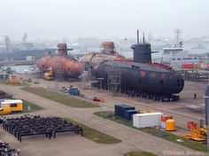 Dutch navy - 3 Walrus class submarines out of the water (via Ron Damman's Newdeep.nl, photo by Willem Severins)