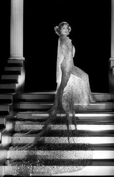 Joan Crawford photographed by George Hurrell in an Adrian designed gown for the film Dancing Lady. - Joan Crawford photographed by George Hurrell in an Adrian designed gown for the film Dancing Lady - Hooray For Hollywood, Hollywood Icons, Old Hollywood Glamour, Golden Age Of Hollywood, Vintage Glamour, Vintage Hollywood, Hollywood Stars, Vintage Beauty, Classic Hollywood