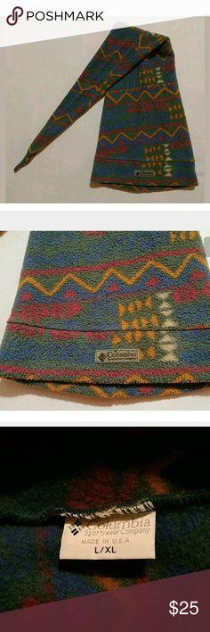 Vintage Columbia crazy ski hat L/XL Lol. So funny. Vintage fleece ski hat by Columbia. This thing is three feet long. Aztec print fleece. Awesome. Columbia Accessories Hats