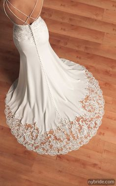 7de021b765 6586 Designer Vintage Wedding Gown by Stella York. Bridal Gown Available at  The Wedding Studio Greenwood.