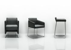 Tommo by Allermuir is an elegant profile combined with tailored upholstery creates a range which is understated yet luxurious. Comfort collides with beauty to create a lounge chair, sofa and foot stool, complemented by a range of occasional tables with a striking polished aluminium base.
