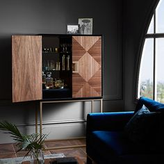 Raise the bar this holiday season with an ultra-glamorous cocktail cabinet or home bar that's bound to cause a stir with guests. Bar These Home Cocktail Bar Ideas Are Perfect For The Party Season Living Room Bar, Living Room Cabinets, Home And Living, Home Cocktail Bar, Cocktail Movie, Cocktail Sauce, Cocktail Shaker, Cocktail Recipes, Bar Furniture