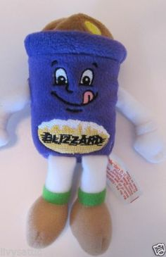 DQ Dairy Queen Ice Cream Advertising Plush Bean Bag Blizzard Treat Doll Toy from 1999. This little guy is lo-cal ☺