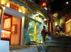 Santorini - beaches and shopping? Erm, yes!