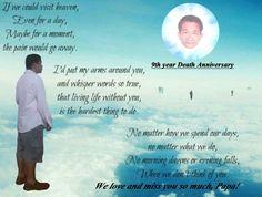 My dad 9th year death anniversary