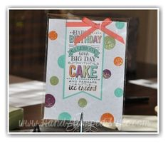 making SIMPLE CARDS IS A BREEZE WITH Big Day set from Stampin' Up! it's a Birthday set with http://www.handstampedstyle.com