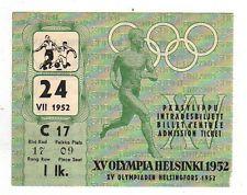 Orig.Ticket   Olympic Games HELSINKI 1952    Football   Germany - Brazil  1/4 F.