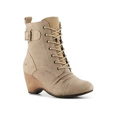 Not sold at DSW in the right size, but this color beige or taupe, lace-up style, short heel is the shoe!!