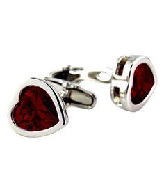 Orosilber Red Metal Crystal Cufflinks, http://www.snapdeal.com/product/orosilber-metal-crystal-cufflinks/1760826287