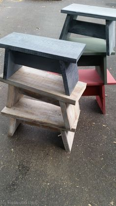 How to make useful one board stools, that are great for that top cupboard, for the grandkids, or an extra place to park your bum. #woodworkingbench