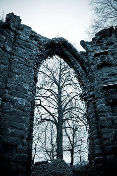 Gothic arch ruins
