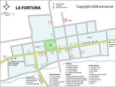 La Fortuna Costa Rica Map  Location of supermarket/bank