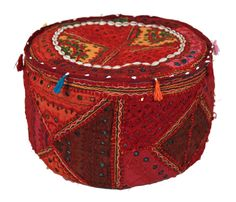 Ottoman - made from vintage hand embroidered fabrics. Sold Out Marigold, Ottoman, Fabrics, India, Boho, Gifts, Accessories, Clothes, Vintage