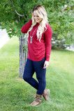 Burgundy Bow Back Cashmere Sweater | KISSmeMINT