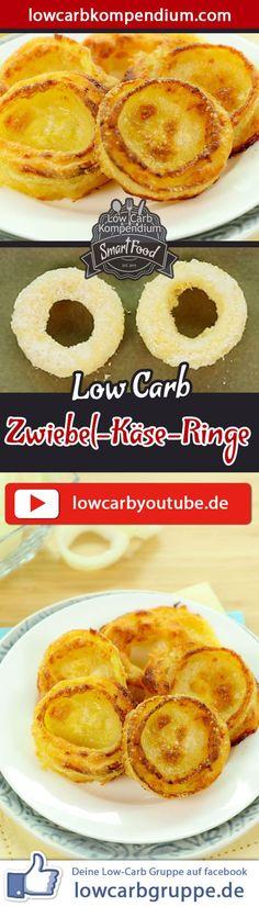 Low-Carb Zwiebel-Käse-Ringe - Fingerfood herzhaft & saftig.   Heute haben wir mal wieder ein tolles Low-Carb Fingerfood für dich :) Die Zwiebel-Käse-Ringe sind aus wenigen Zutaten blitzschnell vorbereitet und werden im Ofen lecker goldbraun gebacken.  Die Low-Carb Zwiebel-Käse-Ringe schmecken warm und kalt, die musst Du unbedingt probieren :)  Und nun wünschen wir dir viel Spaß beim Nachkochen, LG Andy & Diana.