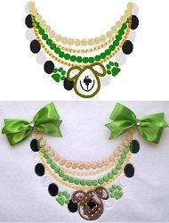 Puppy Necklace Applique - 3 Sizes! | Tags | Machine Embroidery Designs | SWAKembroidery.com and to Bow