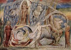 "William Blake  Illustrations for Dante Alighieri's ""Divine Comedy."" Beatrice chariot"