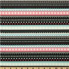 Winter Penguins Knitted Scarf Stripe Pink Icing