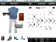 Stylebook : Want to keeo your wardrobe digitally organized? Click pictures and save them, remove backgrounds and make looks.. but most of all... by keeping a calendar track.. repeating outfits is minimized and you can plan ahead if your special dress needs dry cleaning!