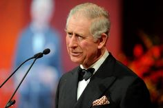 Charles cut a sharp figure in black tie which he spiced up a bit with a smart patterned pocket square.