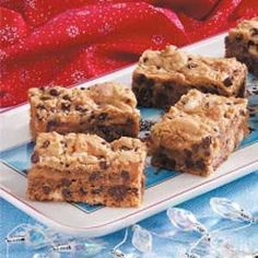 Caramel Chip Bars Recipe -It's fun to take a yellow cake mix and create something that is this rich and wonderful. We like eating the bars when they are cold, right out of the refrigerator. They're ideal with a tall glass of milk. -LaDonna Reed, Ponca City, Oklahoma