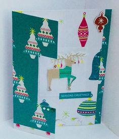 Handmade Christmas Reindeer Card, Christmas Card, Blank Card, Seasons Greetings    eBay Luxury Christmas Cards, Handmade Christmas, Blank Cards, Reindeer, Stationery, Seasons, Ebay, Stationeries, Papercraft