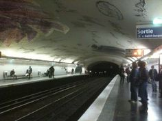 A Paris Metro Stop. Photo by Beth Barany. All Rights Reserved.