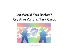 20 Would You Rather? High School Subjects, Middle School Teachers, Writing Topics, Writing Prompts, Funny Questions, Social Studies Classroom, Teaching Language Arts, Would You Rather, Group Work