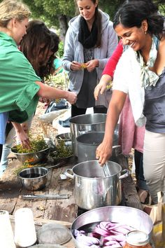 Fiber and dye garden work party, plant dye, weed walk, clothing swap by Permacouture Institute