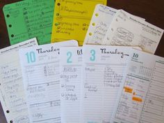"""9 More Ways to Use a Planner Page - you don't have to use the page as """"designed"""" - Examples"""