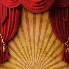 Theater, scene,  audience and curtain   Театр, сцена, зрительный зал и занавес