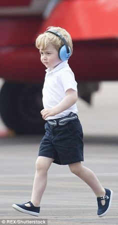 July 8, 2016. Prince George at Royal International Air Tattoo. George looked like he was on a mission as he confidently walked across the airfield