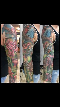 My Amazon Jungle sleeve by Aaron Moore at Westside Tattoos/Colorado Springs Co.