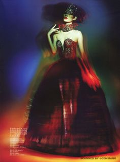 Ming Xi wears Alexander McQueen in 'Pure Fantasy' by Trunk Xu for Vogue China Collections Spring/Summer 2013.