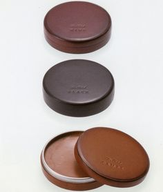 leather shoe polish case (in the same colour as leather shoes) by asako okazaki at DMN design workshop exhibition
