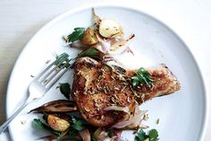 Find the recipe for Fennel-Crusted Pork Chops with Potatoes and Shallots and other pork recipes at Epicurious.com