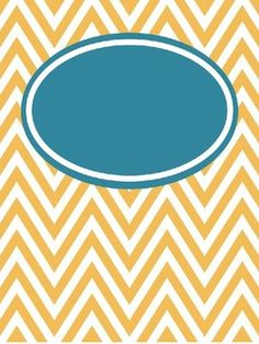 FREE Editable Chevron Binder Covers!