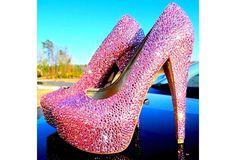 Wish | Fabulous Pink Bling Diamond High Heels