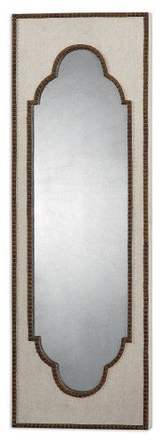 36 Eclectic Beige and Rust Brown Moroccan Inspired Framed Antiqued Wall Mirror * This is an Amazon Affiliate link. You can find more details by visiting the image link.