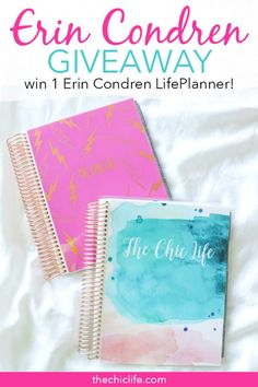 Click to learn how to win 1 Erin Condren LifePlanner 2019 - get details and rules and learn how to enter #erincondren #planner Planner Tips, Planner Layout, Planner Pages, Happy Planner, Types Of Planners, Teacher Planner, Planner Decorating, Printable Planner Stickers, Erin Condren Life Planner