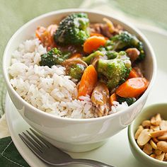 Chinese Veggies & Rice - Cook rice according to package directions. Set aside and keep warm in a covered container. Make vegetable mixture while rice is cooking.