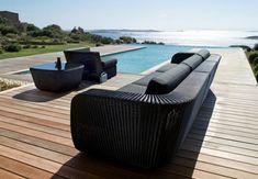 Moderne Terrassengestaltung – 100 Bilder und kreative Einfälle - moderne terrasse gestalten zeitgenössisch möbel rattan