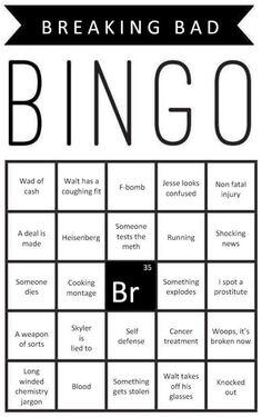 Breaking Bad Bingo Printable