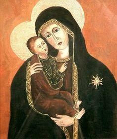 Madonna Preziosa - olio su tela (23x28 cm)