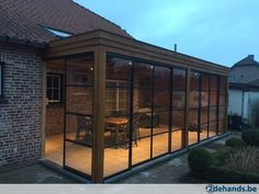 Porch Stairs, English Farmhouse, Greenhouse Shed, Backyard, Patio, House Extensions, Window Design, Glass House, Bay Window