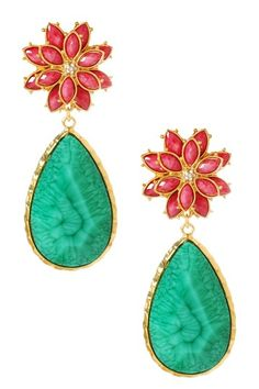 East Lake Summer Earrings Fuchsia and Turquoise $100>$29