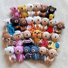 What a cute pile of bears!