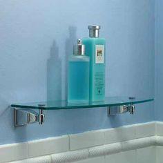 Motiv 1834T-24/SN Quattro Tempered Glass Bathroom Shelf by Motiv. $121.55. Finish:Satin Nickel (Brushed Nickel)