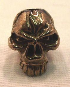 Emerson Bronze Knife Lanyard Skull Bead